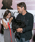 2019, June 12. UPI, Amsterdam, the Netherlands. Rosanna Lima, Bas Smit and his dog Lucky at the dutch premiere of A Dog's Journey.