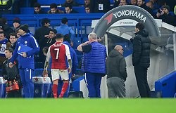 Alexis Sanchez of Arsenal heads straight for the tunnel at full time. - Mandatory by-line: Alex James/JMP - 10/01/2018 - FOOTBALL - Stamford Bridge - London, England - Chelsea v Arsenal - Carabao Cup semi-final first leg