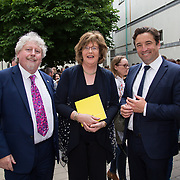 "11.06.2017         <br /> International award winning artists are among the almost 200 graduates of Limerick School of Art and Design who's work went on exhibition at the LSAD Graduate Show 2017.<br /> <br /> Pictured at the awards ceremony were, Mike Fitzpatrick, Head LSAD, Senator Maria Byrne and John Concannon, Director Creative Ireland.<br /> <br />  <br /> Students from the college took control of the over-riding message of this historical show as they conceptualised, designed and delivered on the theme - be.cause.<br />  <br /> The hypothesis conceived by Graphic Design graduates Cassandra Walsh and David Reilly, is derived from the fact the graduates have now reached a stage where they are confident with their work, their interpretations and creative solutions. As creative minds they have an innate need to ""do"" something. There is just this need to create, be.cause.<br /> . Picture: Alan Place."