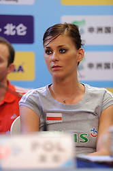 24-08-2010 VOLLEYBAL: WGP PRESS CONFERENCE AND TECHNICAL MEETING: BEILUN NINGBO<br /> Press conference with Poland captain Katarzyna Skowronska-Dolata<br /> ©2010-WWW.FOTOHOOGENDOORN.NL