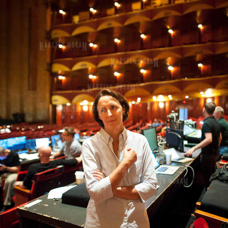 September 4, 2013 - New York, NY : Irish actress and theatre director Fiona Shaw poses for a portrait at The Metropolitan Opera House at Lincoln Center in Manhattan on Wednesday afternoon. Shaw is replacing Deborah Warner as director of the Met Opera's new staging of Eugene Onegin. CREDIT: Karsten Moran for The New York Times