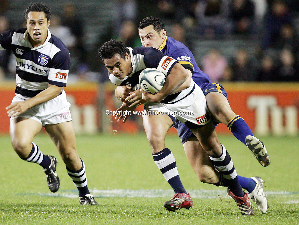 Isaia Toeava in action during the Air NZ Cup week 9 rugby match between Auckland and Otago at Eden Park, Auckland, New Zealand on Saturday 23 September, 2006. Auckland won the match 48-7. Photo: Hannah Johnston/PHOTOSPORT<br />
