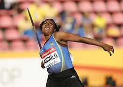 July 10, 2018 - Tampere, Suomi Finland - 180710 Friidrott, Junior-VM, Dag 1: Yuleixi Anai Angulo ECU competes in Javelin Throw during the IAAF World U20 Championships day 1 at the Ratina stadion 10. July 2018 in Tampere, Finland. (Newspix24/Kalle Parkkinen) (Credit Image: © Kalle Parkkinen/Bildbyran via ZUMA Press)