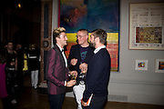 HENRY HOLLAND, GILES DEACON AND DAVID WADDINGTON, 240th Royal Academy Summer Exhibition fundraising private view. Piccadilly. London.4 June 2008.  *** Local Caption *** -DO NOT ARCHIVE-© Copyright Photograph by Dafydd Jones. 248 Clapham Rd. London SW9 0PZ. Tel 0207 820 0771. www.dafjones.com.
