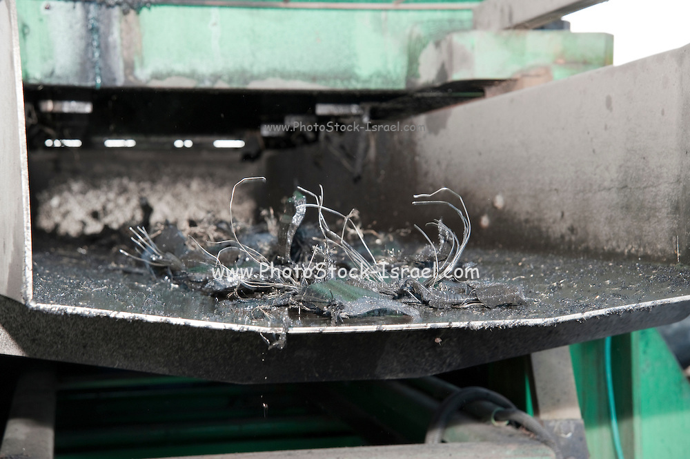 Israel, Tyrec LTD Tire recycling industries The metal and fabric is separated from the rubber