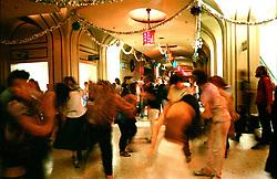 The Grateful Dead New Years Eve Concert Run 1984. The Scene in the Halls at The San Francisco Civic Auditorium, 28 December 1984. Shot on Color Negative Film, Kodak CM135-36.