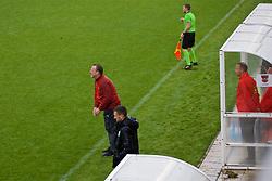 NEWPORT, WALES - Monday, October 14, 2019: Austria's head coach Rupert Marko during an Under-19's International Friendly match between Wales and Austria at Dragon Park. (Pic by David Rawcliffe/Propaganda)