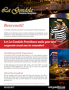 La Gondola Brochure - Providence, Rhode Island