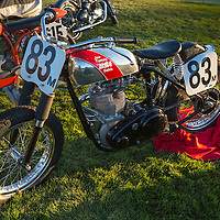 1956 BSA CB Gold Star, in the early morning light, pre-show, at the 2012 Santa Fe Concorso.