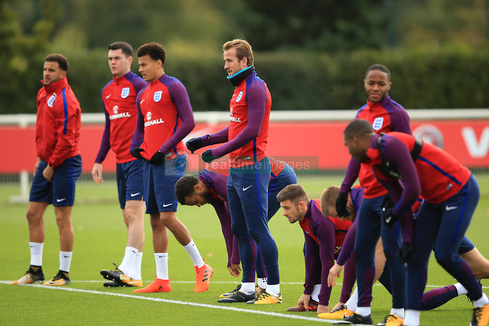 4 October 2017 -  2018 FIFA World Cup Qualifying (Group F) - England Training - Harry Kane of England among his team mates - Photo: Marc Atkins/Offside