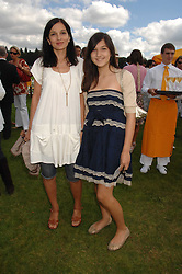 Left to right, YASMIN MILLS and her daughter LAUREN MILLS at the final of the Veuve Clicquot Gold Cup 2007 at Cowdray Park, West Sussex on 22nd July 2007.<br />