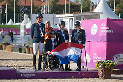 Team Netherlands, Hosmar Frank, Den Dulk Nicole, Krijnsen Lotte, Voets Sanne<br /> FEI European Para Dressage Championships - Goteborg 2017 <br /> &copy; Hippo Foto - Dirk Caremans<br /> 22/08/2017,