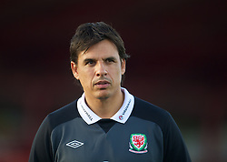 NOVI SAD, SERBIA - Monday, September 10, 2012: Wales' manager Chris Coleman during a training session at the Karadorde Stadium ahead of the 2014 FIFA World Cup Brazil Qualifying Group A match against Serbia. (Pic by David Rawcliffe/Propaganda)