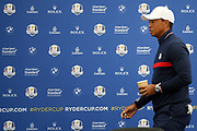 Tiger Woods (Usa) during the press conference of the Ryder Cup 2018, at Golf National in Saint-Quentin-en-Yvelines, France, September 25, 2018 - Photo Pool / KMSP / ProSportsImages / DPPI