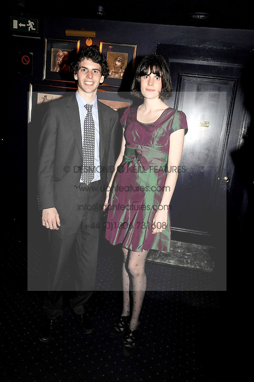 GEORGE GREENOCK and LADY LAURA CATHCART at the Tatler Magazine Little Black Book party at Tramp, 40 Jermyn Street, London SW1 on 5th November 2008.