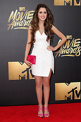Laura Marano, at the 2016 MTV Movie Awards, Warner Bros. Studios, Burbank, CA 04-09-16. EXPA Pictures © 2016, PhotoCredit: EXPA/ Photoshot/ Martin Sloan<br /> <br /> *****ATTENTION - for AUT, SLO, CRO, SRB, BIH, MAZ, SUI only*****