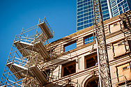 2018 FEBRUARY 12 - The State Hotel construction detail, 2nd and Pike, Seattle, WA, USA. By Richard Walker