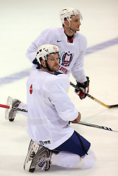 Tomo Hafner at practice of Slovenian national team at Hockey IIHF WC 2008 in Halifax,  on May 01, 2008 in Forum Centre, Halifax, Canada.  (Photo by Vid Ponikvar / Sportal Images)