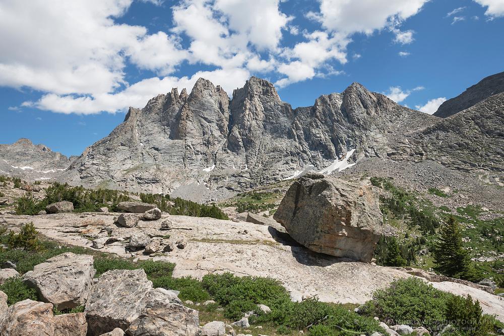 Mount Bonneville. Bridger Wilderness, Wind River Range Wyoming