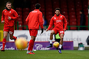 Keshi Anderson of Swindon Town warms up during the EFL Sky Bet League 2 match between Swindon Town and Lincoln City at the County Ground, Swindon, England on 12 January 2019.