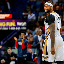 Mar 31, 2017; New Orleans, LA, USA; New Orleans Pelicans forward DeMarcus Cousins (0) against the Sacramento Kings during the first quarter of a game at the Smoothie King Center. Mandatory Credit: Derick E. Hingle-USA TODAY Sports