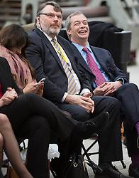© Licensed to London News Pictures . FILE PICTURE DATED 23/03/2015 . Middleton , UK . Former UKIP candidate Natasha Bolter , UKIP Head of Candidates David Soutter and party leader Nigel Farage at a UKIP policy launch at Concept Metal Products and Co Ltd in Middleton , Greater Manchester, on 23rd March 2015 . It is reported that UKIP head of candidates David Soutter has been having an extra-marital affer with former UKIP candidate Natasha Bolter . Photo credit : Joel Goodman/LNP