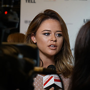 London, England, UK. 21th September 2017. Emily Atack attend Lies We Tell Film Premiere at Vue Leicester Square