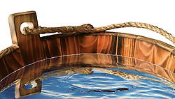 Wood water bucket