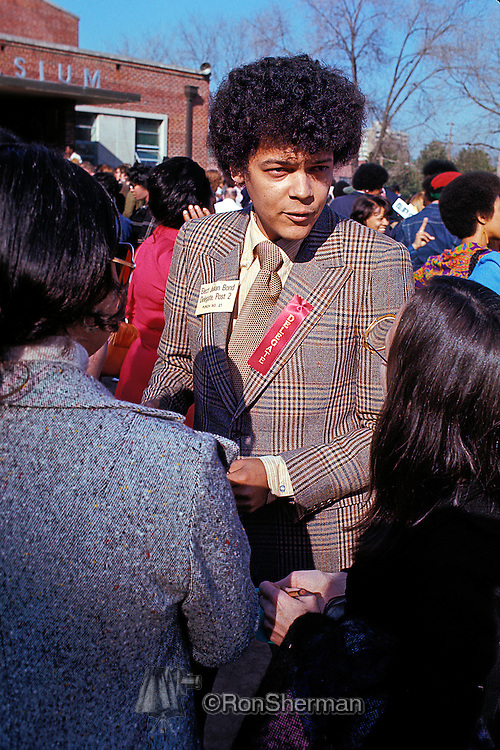 Julian Bond working the crowd in Atlanta as Democratic Nomanee for delegate to the 1972 Democratic Convention.