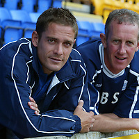 Paul Bernard pictured at McDiarmid Park today after signing a twelve month contract with St Johnstone. He is pictured with manager Billy Stark<br />see story by Gordon Bannerman Tel: 01738 553978<br /><br />Picture by Graeme Hart.<br />Copyright Perthshire Picture Agency<br />Tel: 01738 623350  Mobile: 07990 594431
