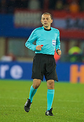 VIENNA, AUSTRIA - Thursday, October 6, 2016: Referee Cuneyt Cakir during the 2018 FIFA World Cup Qualifying Group D match between Austria and Wales at the Ernst-Happel-Stadion. (Pic by David Rawcliffe/Propaganda)