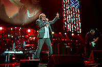 Roger Daltrey of The Who performs at the 12-12-12 fundraising concert to aid the victims of Hurricane Sandy, will take place on December 12, 2012 at Madison Square Garden. The concert featured The Rolling Stones, Bon Jovi, Eric Clapton, Dave Grohl, Billy Joel, Alicia Keys, Chris Martin, Bruce Springsteen & the E Street Band, Eddie Vedder, Roger Waters, Kanye West, The Who, and Paul McCartney. All the proceeds went go to the Robin Hood Relief Fund. Robin Hood, the largest independent poverty fighting organization in the New York area, will insure that every cent raised will go to non-profit groups that are helping the tens of thousands.of people throughout the tri-state area who have been affected by Hurricane Sandy...Photo © Robert Caplin..