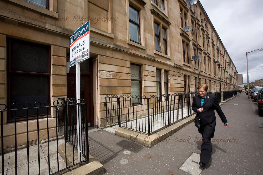 Glasgow Housing Association improvements in Govanhill, Glasgow.Garturk Street, which was improved in the 1980's..