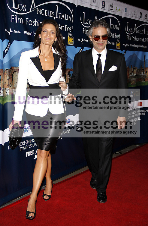 HOLLYWOOD, CA - MARCH 01, 2010: Veronica Berti and Andrea Bocelli at the Los Angeles premiere of 'Andrea Bocelli The Story Behind the Voice' held at the Grauman's Chinese Theater in Hollywood, USA on March 1, 2010.