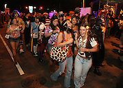 Salem, MA 103109   Halloween revellers kept arriving throughout the night to Salem, MA on October 31, 2009. According to Salem Police Department close to 100,000 people showed up at this Massachussetts city of about 41,000 to celebrate Halloween. (Essdras M Suarez/ ZUMA)