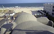 The Atlantic Ocean is viewed from the observation deck of Lucy the Margate Elephant, Saturday, Aug. 17, 2002, in Margate, New Jersey. Lucy, a sixty-five-foot high, wooden elephant, which was built in 1881, was declared a national historic landmark in 1976. (Photo by William Thomas Cain/photodx.com)