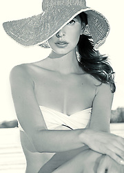 Woman Wearing Wide Brim Hat