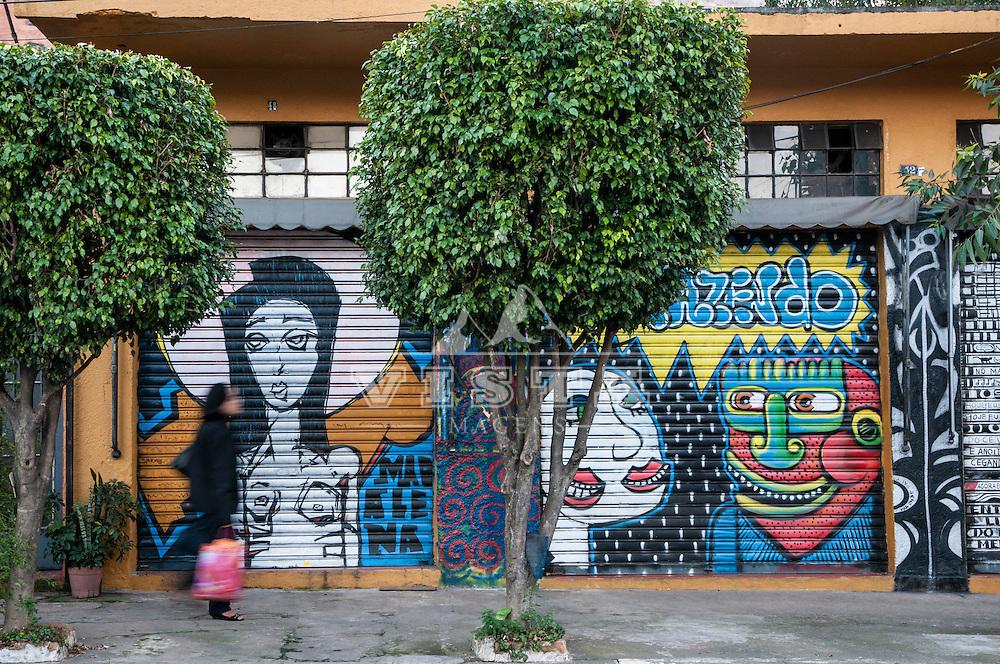 Grafitis no Beco do Batman, Vila Madalena, Sao Paulo, SP, Brasil, foto de Ze Paiva, Vista Imagens.