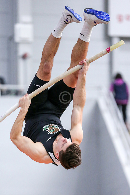 mens pole vault, Brown, Pelusi<br /> BU John Terrier Classic <br /> Indoor Track & Field Meet <br /> day 2
