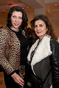 IRINA ALEXEEVA; MONA KHASHOGGI, Bonhams Auction house hosts festive drinks to preview the first phase of the reconstruction of its Mayfair Headquarters - due for completion in 2013.<br /> Bonhams, 101 New Bond Street, London, 19 December 2011.