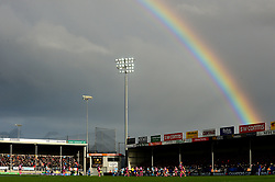 Rainbow over Sandy Park - Mandatory by-line: Dougie Allward/JMP - 08/12/2018 - RUGBY - Sandy Park Stadium - Exeter, England - Exeter Chiefs v Gloucester Rugby - European Rugby Champions Cup