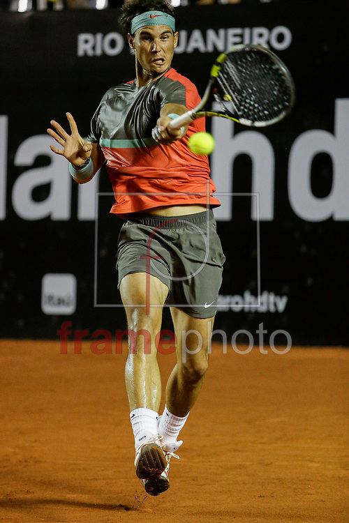 Rafael Nadal(ESP) contra Albert Montanes(ESP) na segunda rodada do torneio ATP World Tour 500l nas instalações do Joquei, na bairro da Gávea, zona sul da cidade.. A categoria ATP World Tour 500 é composta por 11 eventos.