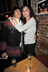 RONNIE WOOD and MARIE HELVIN at the gala night party of Losing It staring Ruby Wax held at he Menier Chocolate Factory, 51-53 Southwark Street, London SE1 on 23rd February 2011.
