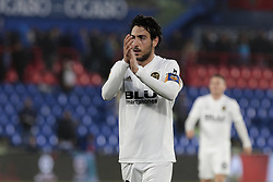 November 10, 2018 - Getafe, Madrid, Spain - Valencia CF's Daniel Parejo celebrates the victory during La Liga match between Getafe CF and Valencia CF at Coliseum Alfonso Perez in Getafe, Spain. November 10, 2018. (Credit Image: © A. Ware/NurPhoto via ZUMA Press)