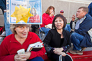 "Dec. 1, 2009 -- TEMPE, AZ: AUDREY BUTKO, left, from Phoenix, and LIEN HENRY, from Laveen, AZ, wait to get Sarah Palin's autograph at the Costco in Tempe Tuesday. Former Alaska Governor Sarah Palin signed copies of her book, ""Going Rogue"" at a Costco in Tempe, AZ, Tuesday. More than one thousand people showed up for the signing. About 150 of them spent the night at the store. Palin did not make any comments or speak to the address during her appearance in Tempe.  Photo by Jack Kurtz"