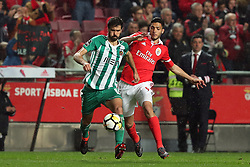 February 3, 2018 - Lisbon, Portugal - Rio Ave's midfielder Tarantini vies with Benfica's Mexican forward Raul Jimenez (R ) during the Portuguese League football match SL Benfica vs Rio Ave FC at the Luz stadium in Lisbon on February 3, 2018. (Credit Image: © Pedro Fiuza/NurPhoto via ZUMA Press)