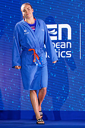 21-01-2020 HUN: European Water polo Championship, Budapest <br /> Slovakia - Netherlands 2—32 / Bente Rogge #7 of Netherlands during LEN European Aquatics Waterpolo on January 21, 2020. SVK vs Netherlands in Duna Arena in Budapest, Hungary