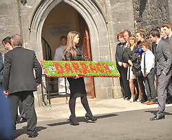 A floral bouquet remembering Darragh Doherty.<br /> Pic Conor McKeown