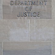 Robert F. Kennedy Department of Justice Building on Pennsylvania Ave and Constition Avenue in downtown Washington DC