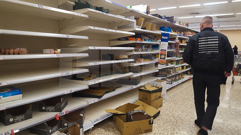 © Licensed to London News Pictures. 08/03/2020. London, UK. Tesco store in London runs out of health food amid an increased number of cases of Coronavirus (COVID-19) in the UK. Major supermarkets including Tesco, have started to ration certain products after shoppers began to stockpile. 273 cases in the UK have tested positive of the virus. Photo credit: Dinendra Haria/LNP
